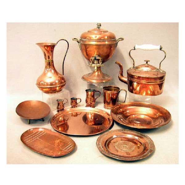 20: Brassware - A Victorian copper tea urn, with brass