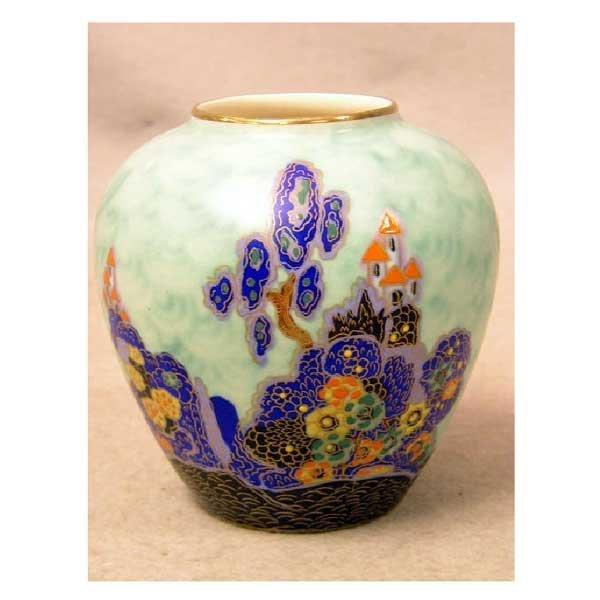 172: Ceramics - A Crown Devon Fieldings vase of ovoid s
