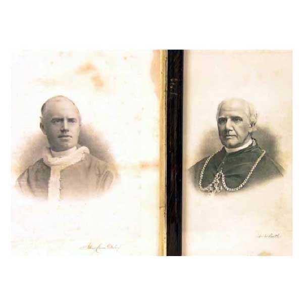 807: Art - Two steel engravings of priests, signed in m