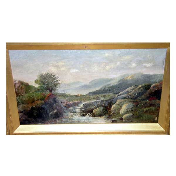 809: Art - Nineteenth century English school, oil on ca