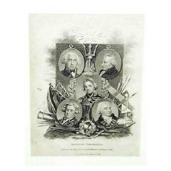 811: Art - A nineteenth century steel engraving of Brit