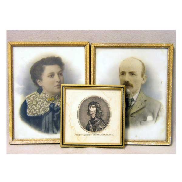 813: Art - A pair of  photographic portraits of a young