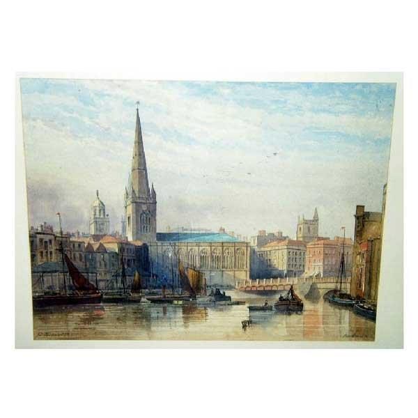 814: Art - Parkman, pencil and watercolour, view of Bri