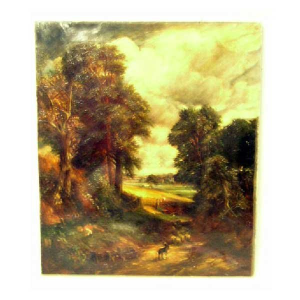 817: Art - After John Constable, oil on canvas, ninetee