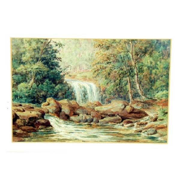 819: Art - Fred J Maher, watercolour, landscape possibl