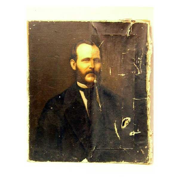 820: Art - Oil on canvas, late nineteenth century bust