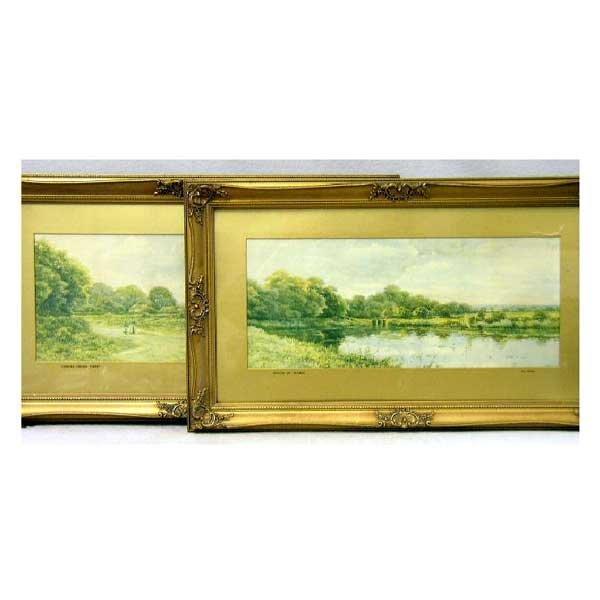 822: Art - A pair of George Oysten landscape prints, Ch