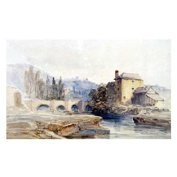 823: Art - William Callow, pencil and watercolour, land