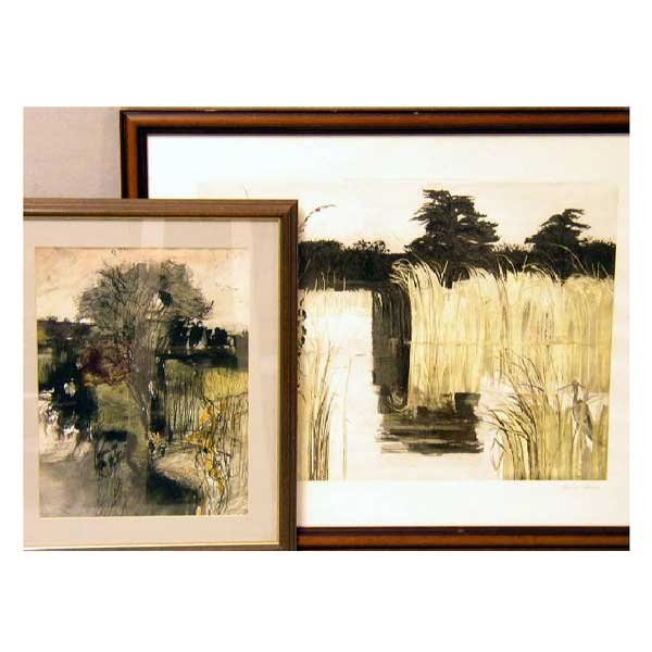 933: Art - John O'Connor, pencil and watercolour, lands