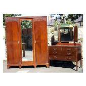 1351 Furniture  A George V mahogany two piece bedroom