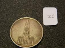 1934 German Silver Coin