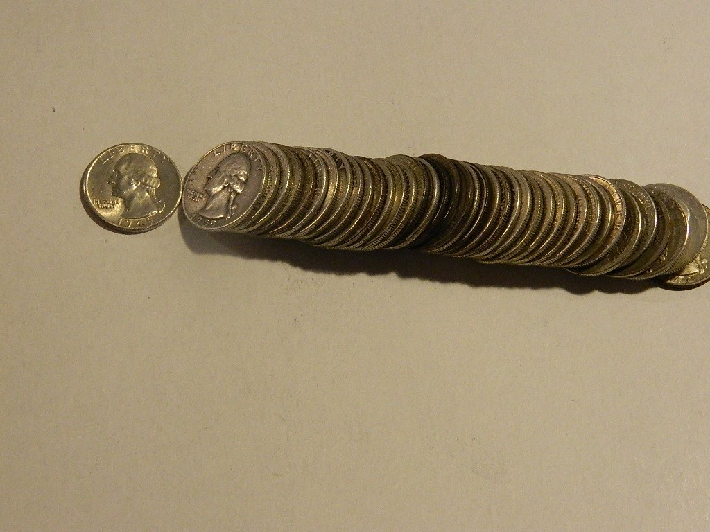 Roll of Silver Quarters