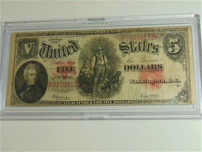 1907 Wood Chopper $5.00 Lrg Note