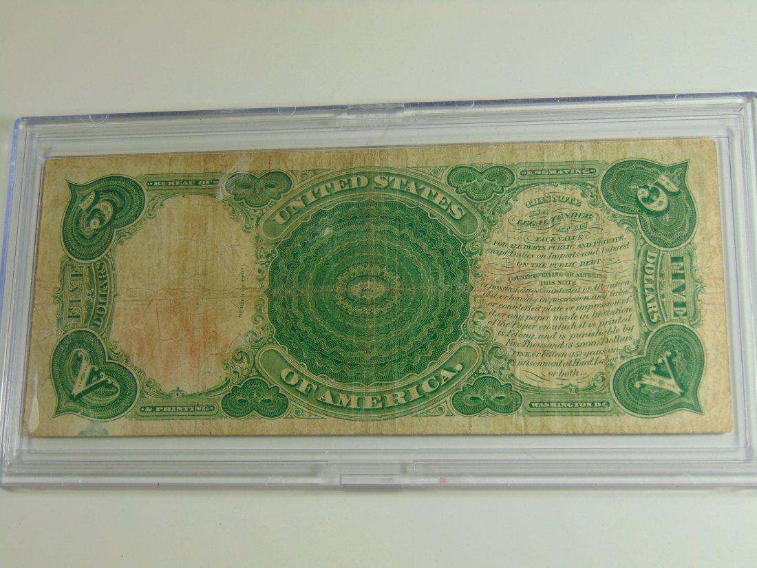 1907 Wood Chopper $5.00 Lrg Note - 2