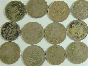 Lot of 12 Aribic World Coins