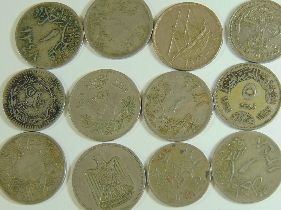 Lot of 12 Aribic World Coins