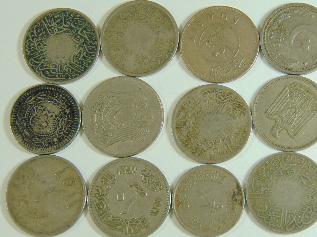Lot of 12 Aribic World Coins - 2