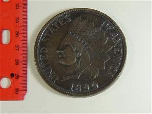 Large 1890 Novelty Indian Head Cent Display Piece