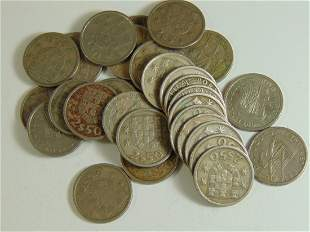 Lot of 30 Portugues World Coins