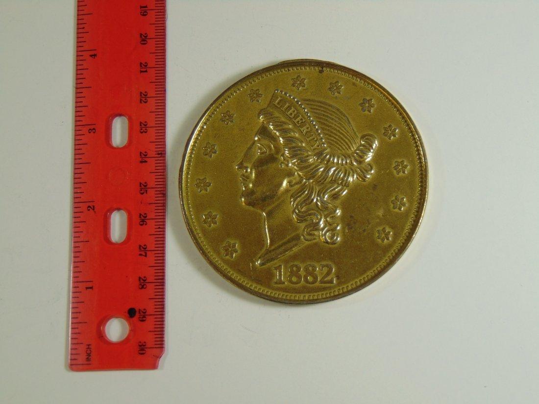 Large 1882 $20 Liberty Display Piece Coin