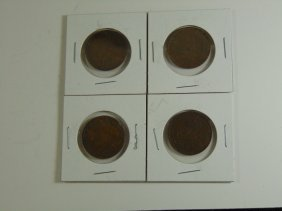 Lot Of 4 Canada Large One Cent 1911,1910,1915,1911