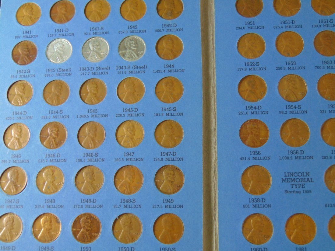 Lincoln Cent Full Book 1941-1973