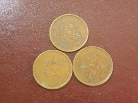 Lot Of 3 China Dragon Coppers