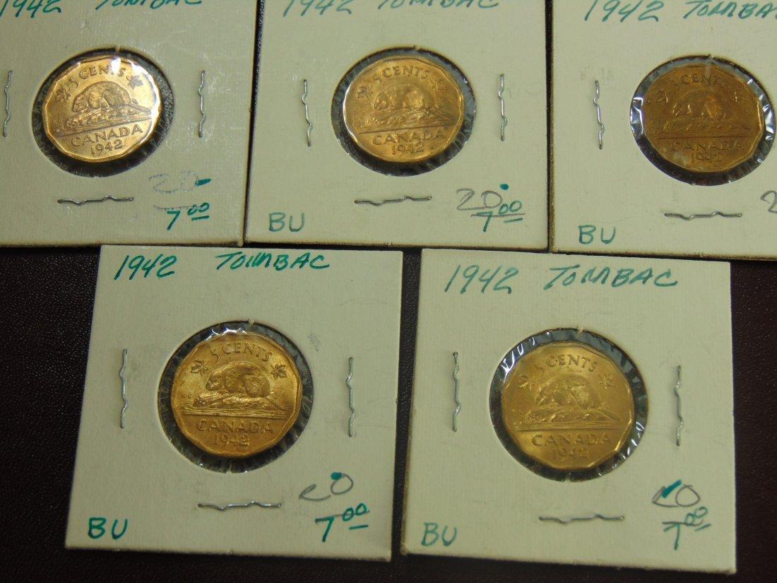 1942 Tombac Canadian BU, 8 Nice Coins - 2
