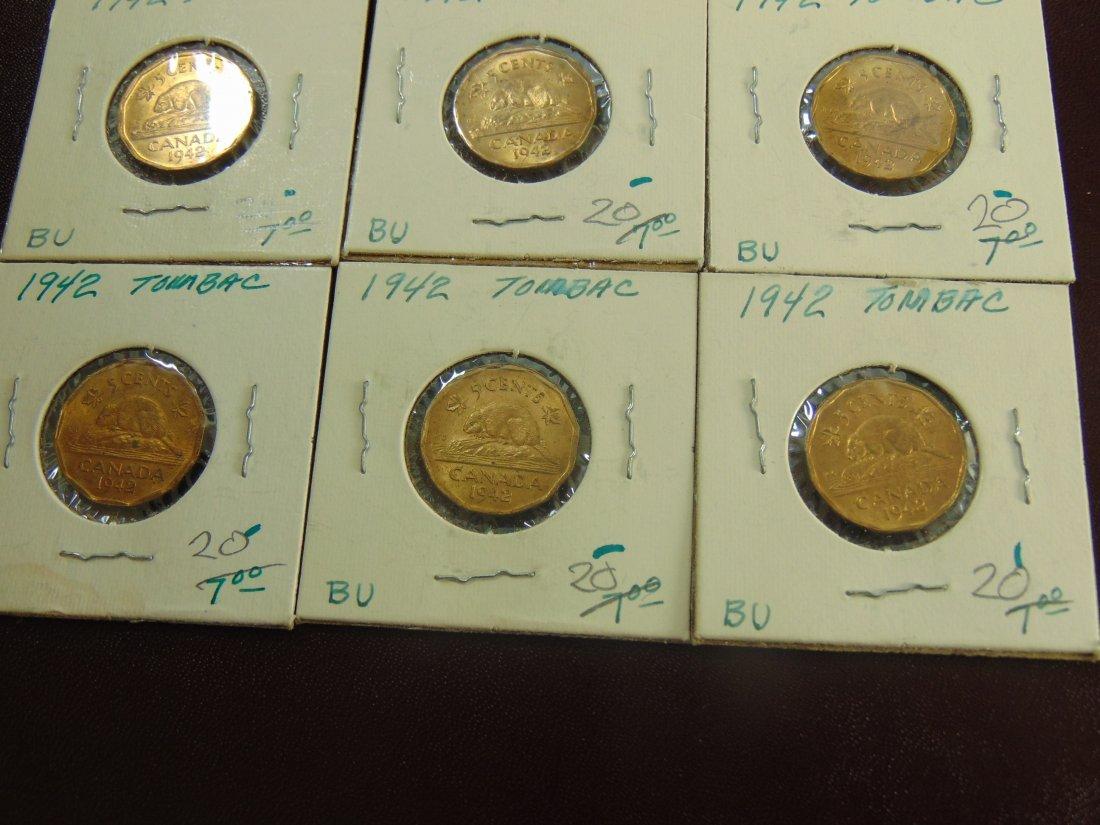 1942 Tobac Canadian BU, 6 nice Coins - 2