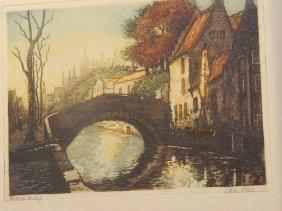German Bridge Etching, Van Holt
