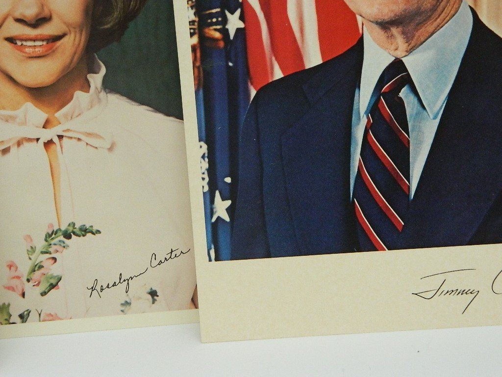 Carter Family Photos, signed. Political Buttons Lot - 2