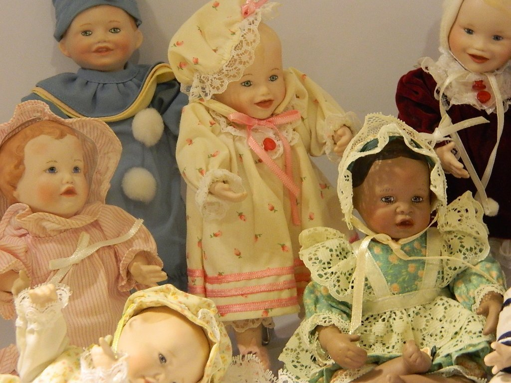 Antique Doll Collection, 11 Dolls - All Posed and