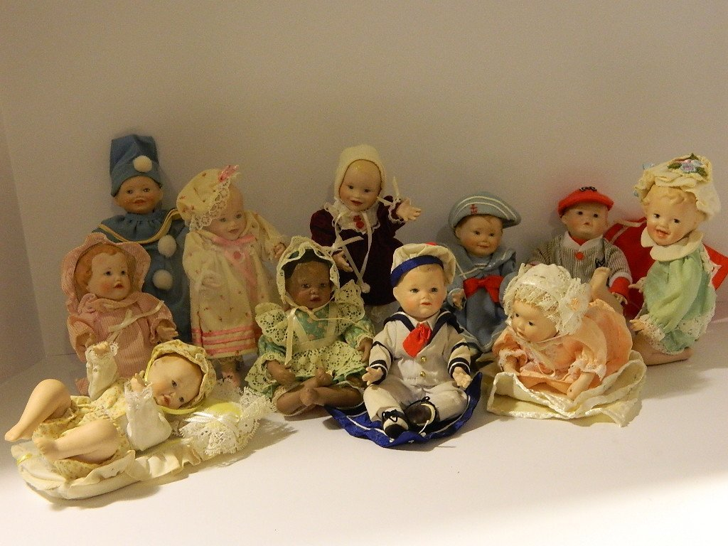 Antique Doll Collection, 11 Dolls - All Posed and - 3