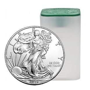 Silver Eagles TEN Tubes 200 Coins No Premium