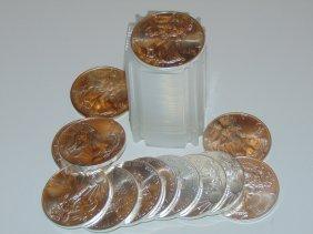 Silver Eagles Five Tubes 100 Coins No Premium