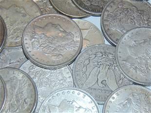 Lot of 30 Morgan Silver Dollars