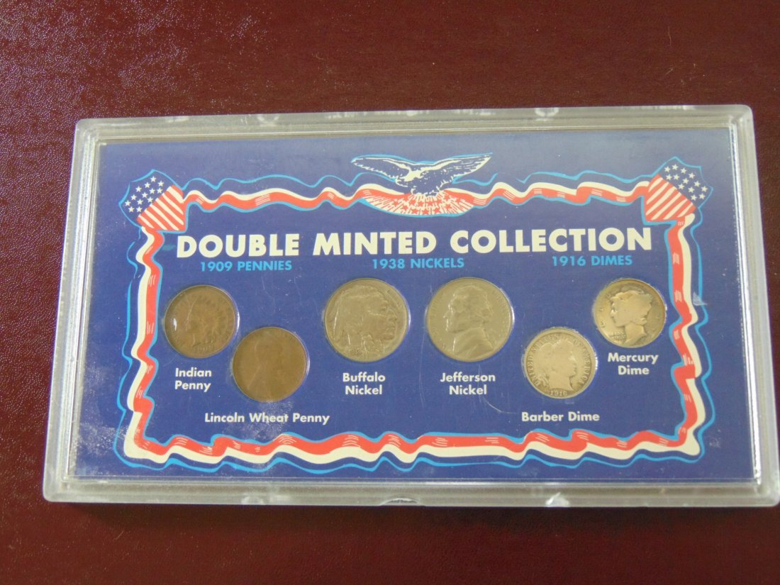 Double Minted Collection; 1909 Pennies, 1938 Nickels,