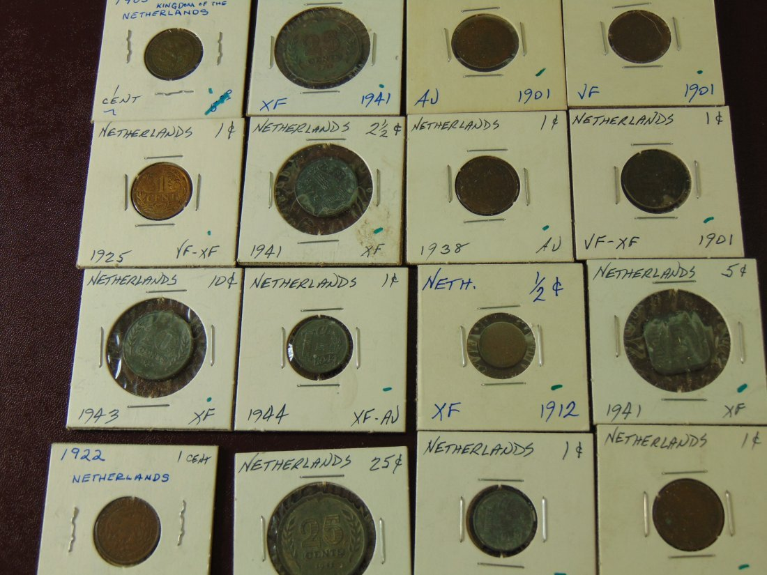 16 Collection of Netherland Coins from the 1900's