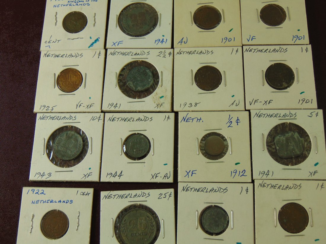 16 Collection of Netherland Coins from the 1900's - 2