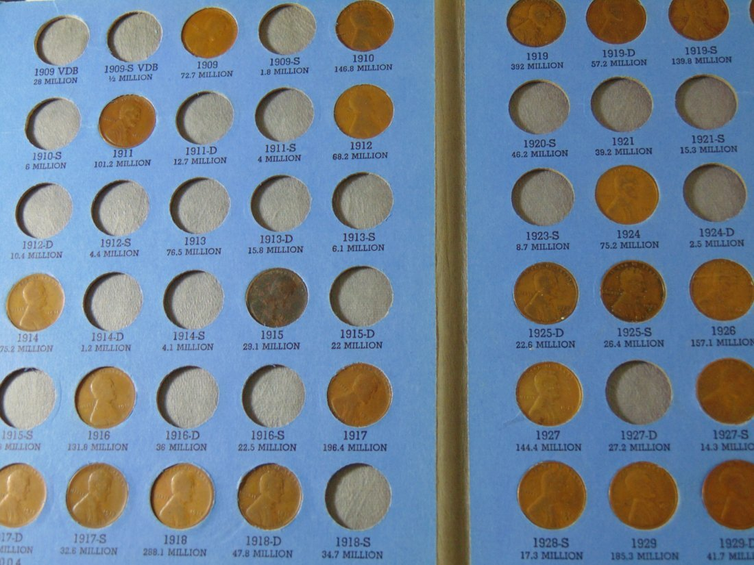 Partial Lincoln Cent Book