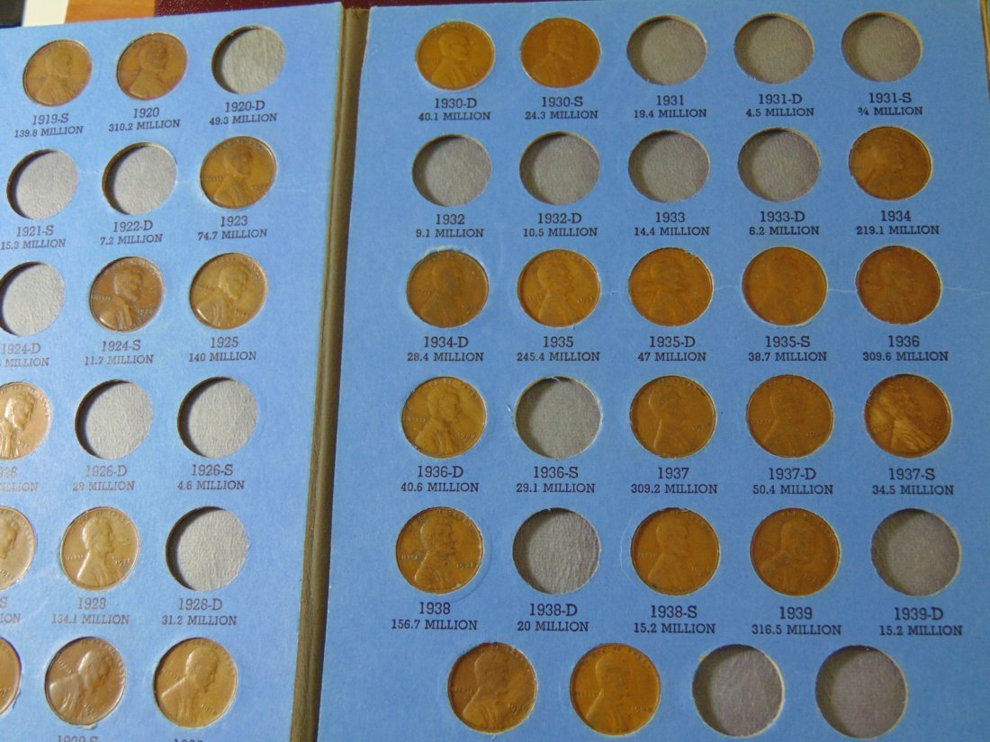 Partial Lincoln Cent Book - 2