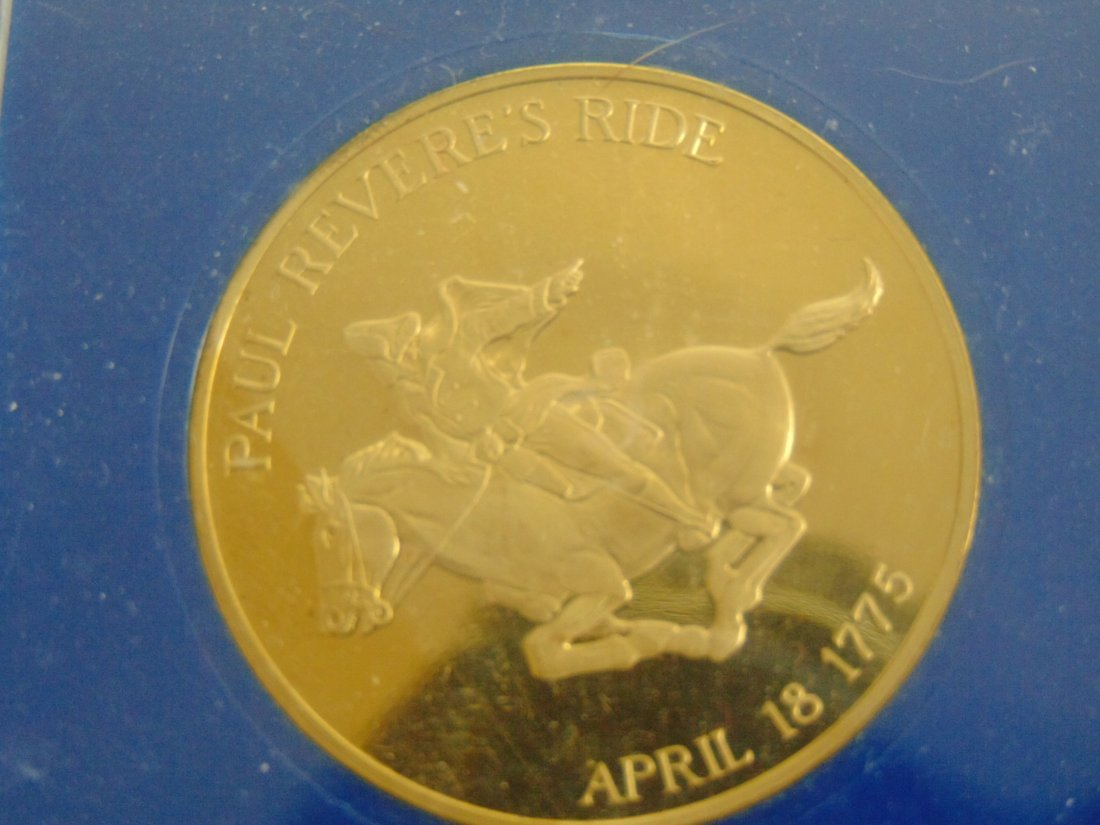 Old North Church, Paul Revere's Ride, Proof Medallion