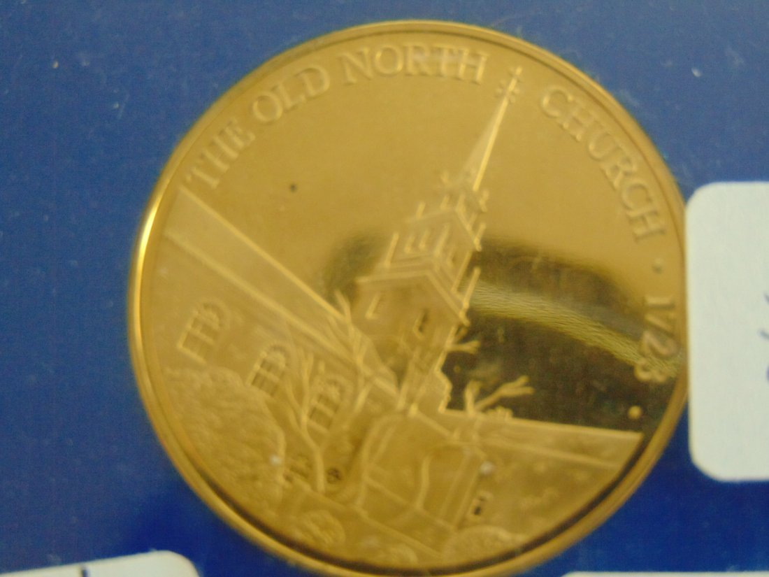 Old North Church, Paul Revere's Ride, Proof Medallion - 2