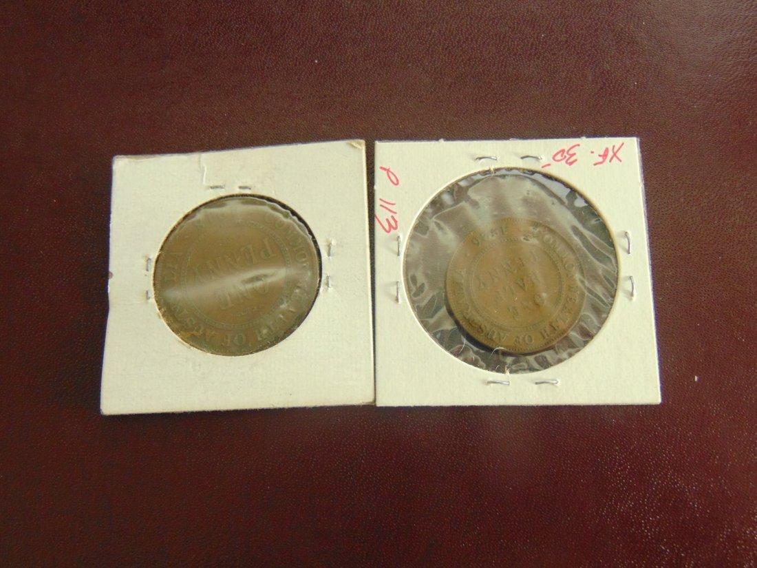 Lot of 2 Australian Coins, 1918, 1926 - 2