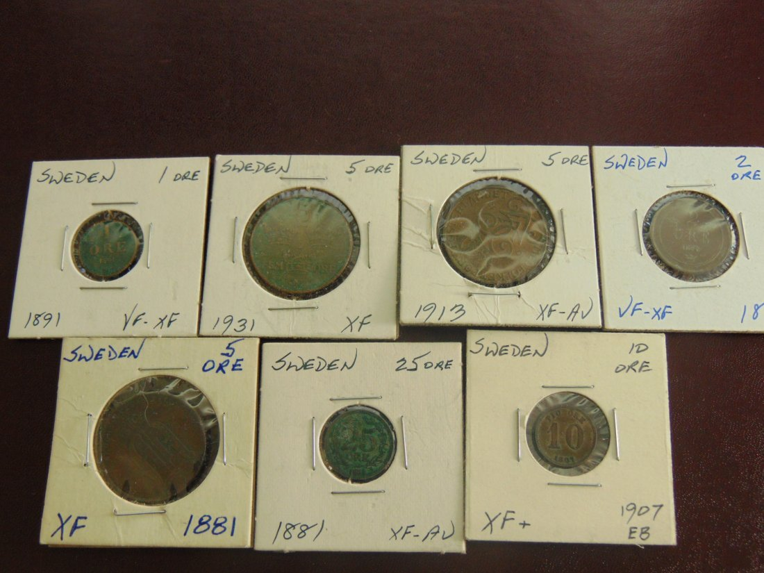 Lot of Old World Coins from Sweden