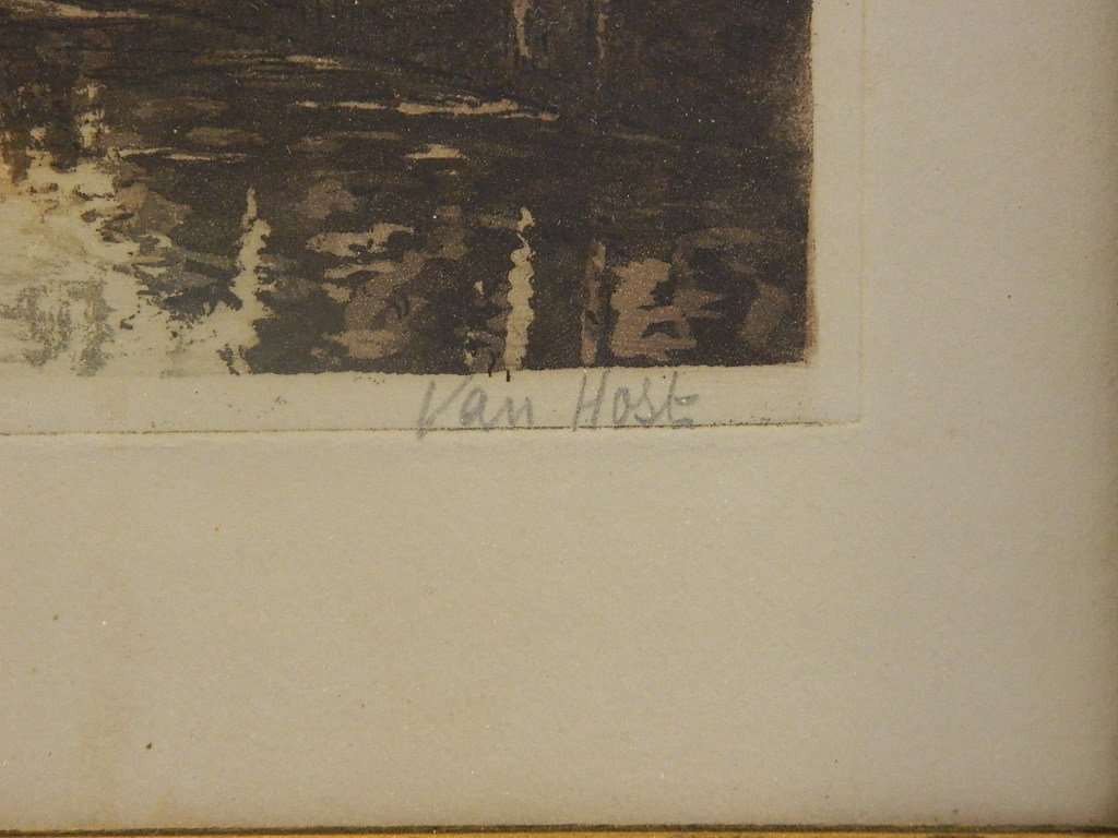 German Bridge Etching, Van Holt