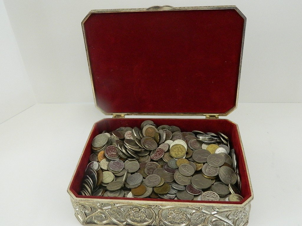 12 Pounds World Coins, Huge Assortment with Box