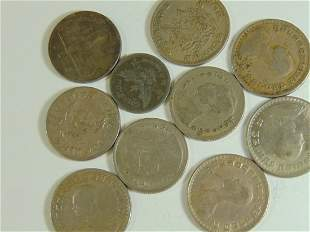 Lot of 10 World Coins