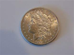 1890 S Choice AU Morgan Silver Dollar