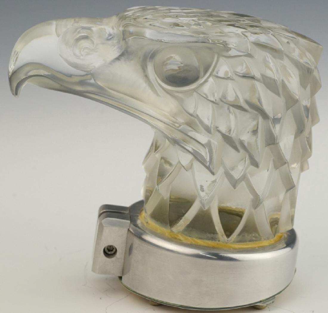 R. LALIQUE Tete d'Aigle Eagle Car Hood Ornament Mascot